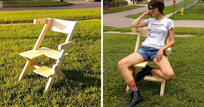Dad Built A 'Bi-Chair' For His Bisexual Daughter, And The People Love It