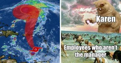 Hilarious Memes About Tropical Storm 'Karen'.