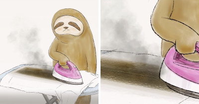 Japanese Artist Illustrates 30 Hilarious Problems Of A Sloth