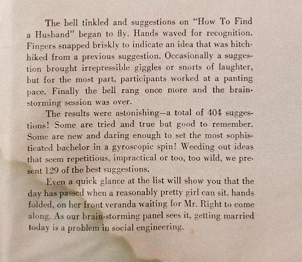 This '129 Ways To Get A Husband' Article From 1958 Proves
