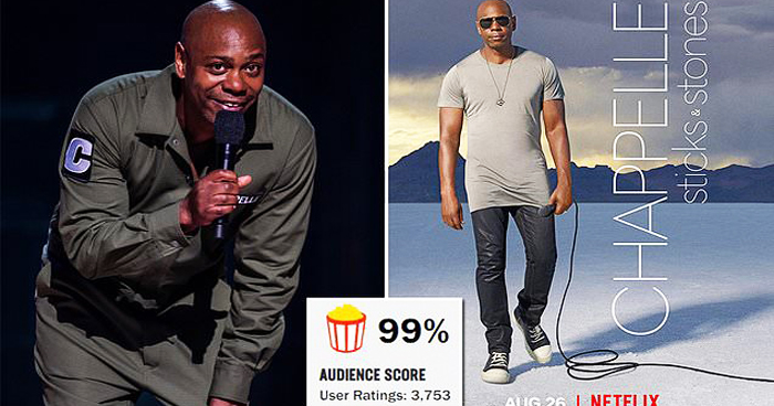 Dave Chappelle Divisive Netflix Film Gets A 99% RT Audience Rating
