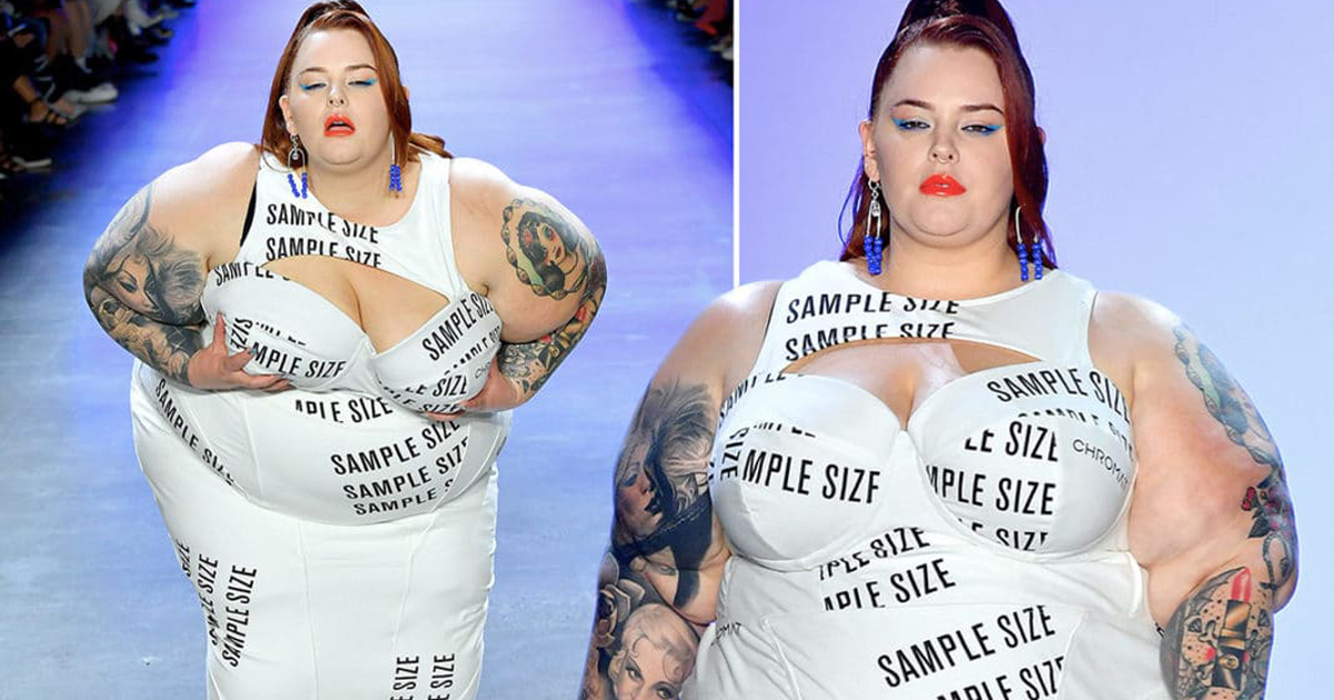 Plus-Size Model Tess Holliday Stuns With A Statement In 'Sample Size' Gown