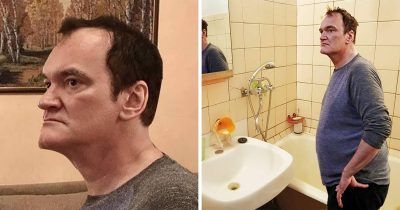Russian man finds a way to sell his apartment with Quentin Tarantino's help.