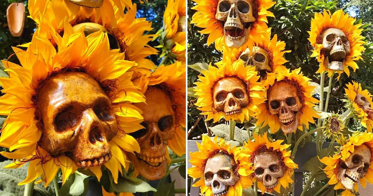 These Sunflower Skulls Are Perfect For Haunting Halloween