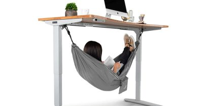 This Under-Desk Hammock Is For Some Serious In-Office Napping