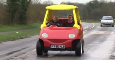 Adult version of the little tikes toy car is legal and runs up to 70mph.