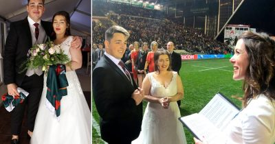 Rugby-Mad Groom Organised Five-Minute Wedding Ceremony During Half-Time Of A Match