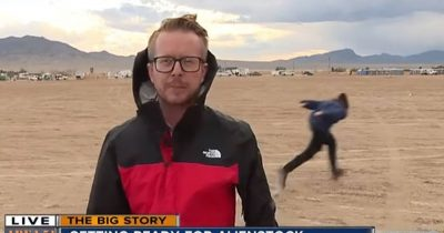 Naruto Running Man Spotted Near Area 51 During Live News Coverage