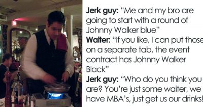 Two Jerks Feels They're Better Than The Waiter, But Boss Make Them Pay $3k Bill