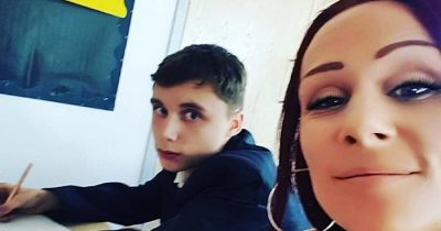 Mom Turned Up And Sits Next To Her Son In School To Stop Him Abusing Teachers