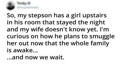 Dad Noticed His Stepson Snuck A Girl Overnight, And Decided To Have A Little Fun And See How It Goes
