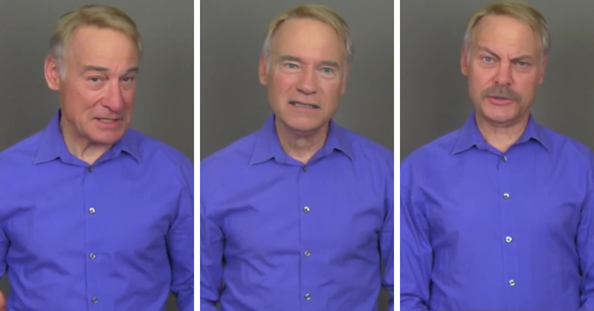 Actor Did 20 Celebs Voice Impressions While Deepfake Alters His Face.
