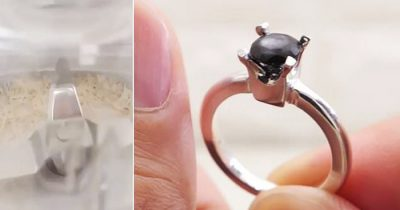 Guy Saves A Year's Worth Of Fingernail Clippings And Turns It Into An Engagement Ring