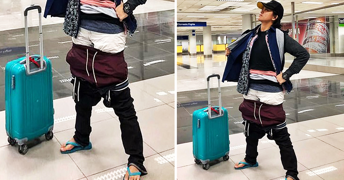 Airline Passenger Wears All Of Her Clothes To Avoid Paying Excess Baggage Fee
