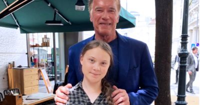 Arnold Schwarzenegger has arranged a Model 3 from Tesla for Greta Thunberg to get around in North America.
