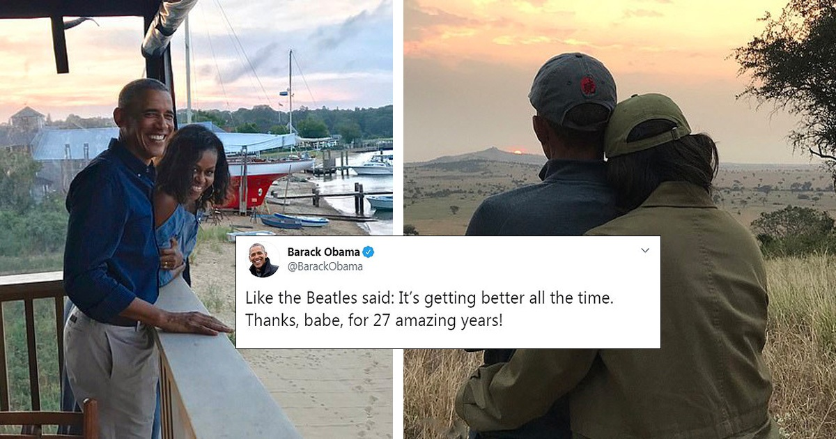 Barack Obama Shares Touching Anniversary Messages With Wife Michelle Obama