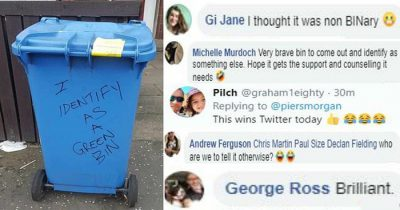 Internet Users In Hysteric Over A Picture Of Blue Bin That Identified As 'Green Bin'