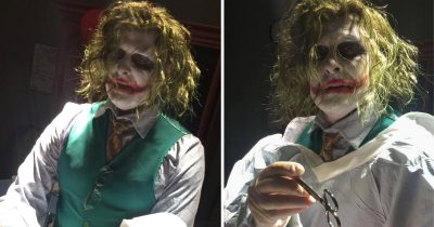 Doctor Delivered Baby On Halloween In The Joker Costume
