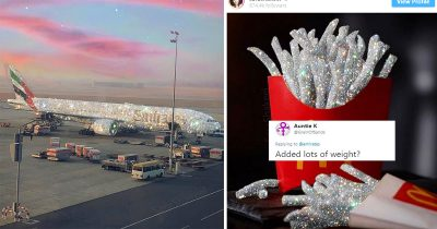 Emirates Posts Photo Of Stunning 'Diamond Covered' Plane And Twitter Has Hilarious Yet Curious Reactions