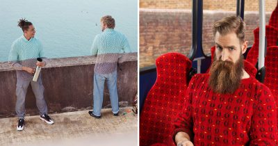 20+ Pics From An 'Invisible Jumpers' Series That Took 5 Years And Thousands Of Knitting Hours