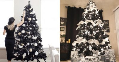 You Can Enjoy The Dark Side This Winter With Jet-Black Christmas Trees