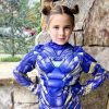 Actress who played Tony Stark's daughter dressed up in Iron Man's clothes for Halloween.