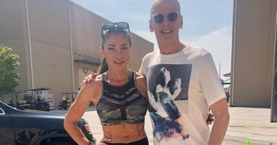 Peter Capaldi appears in the first set picture of 'The Suicide Squad' with Mayling Ng.