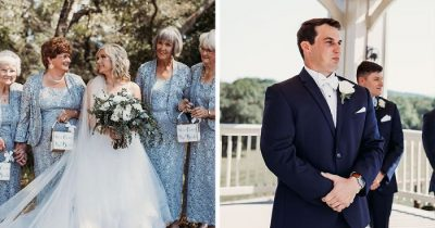 Bride Opted For Her 4 Grandmas As Flower Girls And They Totally Nailed It