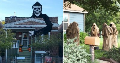 22 People Who Frightened Neighbors With Their Halloween Decorations