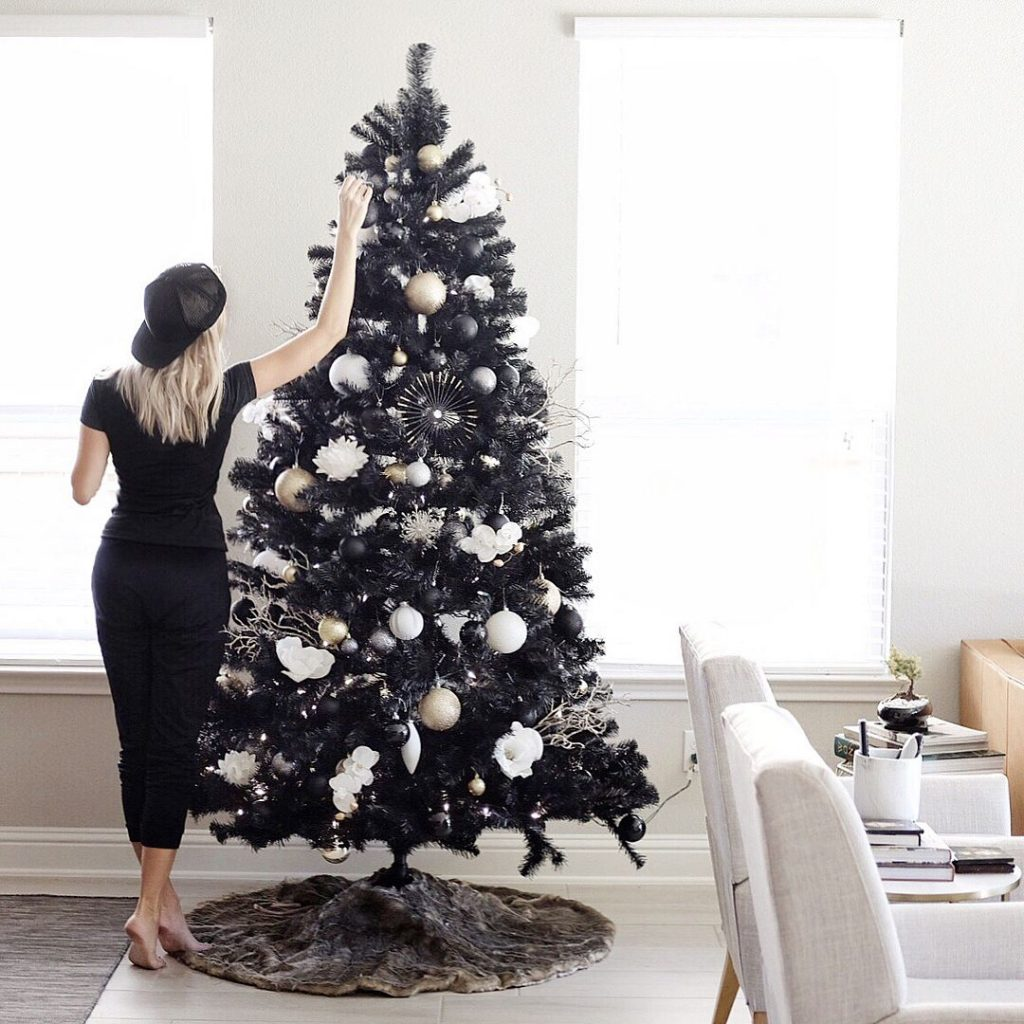 You Can Enjoy The Dark Side This Winter With Jet Black Christmas Trees