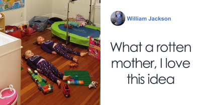 Mom Tells Children They Need To Stay Still To Charge Glow-In-The Dark PJs
