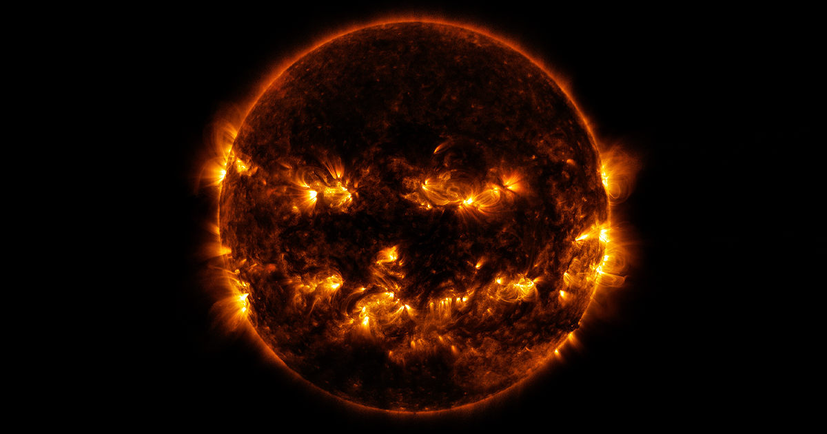 NASA Shares A Photo Of The Sun That Looks Like It Already Celebrating Halloween