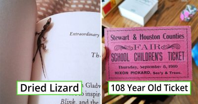 28 Interesting Things People Found In Second-Hand Books