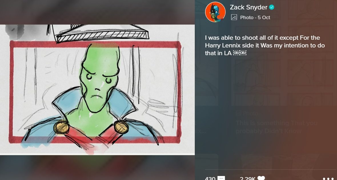 Zack Snyder confirms that Martian Manhunter was in 'Justice League' all along.