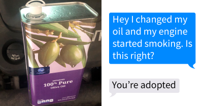 Kids Are Pranking Their Dads That 'They Put Olive Oil In Their Cars' And Share Screenshots
