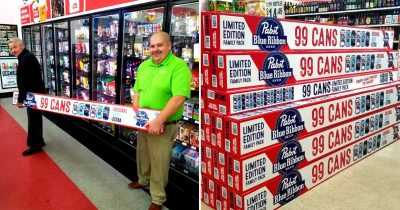 Pabst Blue Ribbon Is Now Selling A Long Limited Edition 99-Pack Of Beer