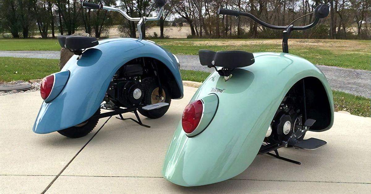 Guy Transformed An Original VW Beetle Into Motorcycles And Gosh, They're Adorable