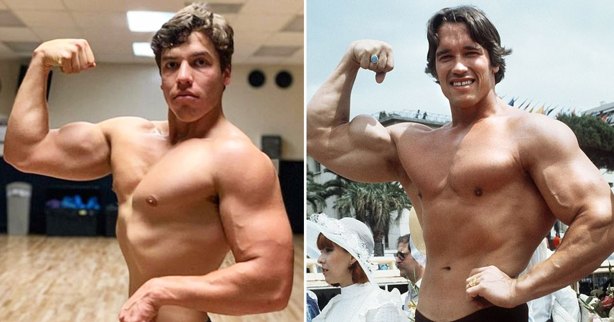 Arnold Schwarzeneggers son recreates another one of his