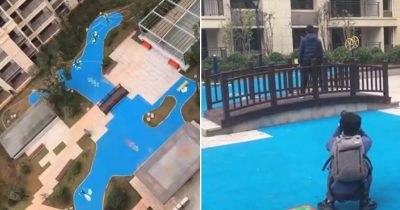 Homeowners Enraged After Realizing Their Developer Built Them A Plastic Lake Instead Of A Real One
