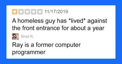 Woman Gave 1-Star Review Because Of A Homeless But Gets A Savage Reply By Owner