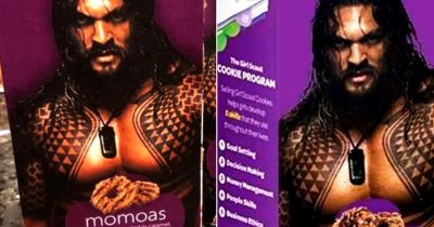 Girl Scout Placed Shirtless Jason Momoa On Cookie Boxes And Sold Out Immediately