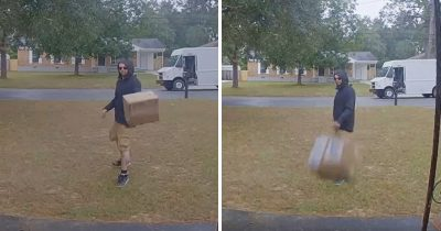 FedEx Delivery Guy Caught On Tape Carelessly Throwing A $1500 Lens