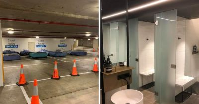 This Parking Lot Is Transformed Into A Safe Haven For The Homeless At Night