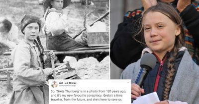 Greta Thunberg Branded A Time Traveller After Spotted In A 120-Year-Old Picture