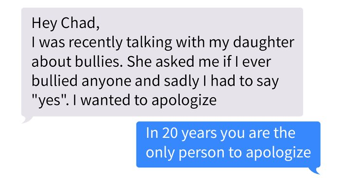 Dad Has To Tell His Daughter He Was A Bully At School, He Apologized To His Victim 20 Years Later