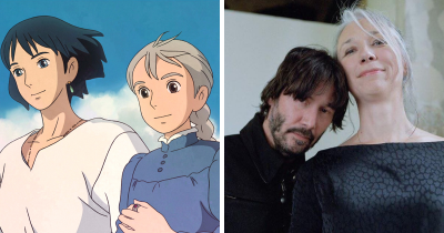 Someone Compares Keanu Reeves And His GF To Howl's Moving Castle Characters And It's Perfect