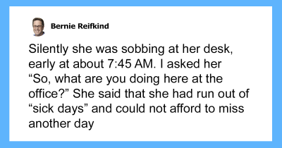 Boss Finds Employee Sobbing At Her Desk And His Act Of Kindness Turns Her Into The Best Employee Ever