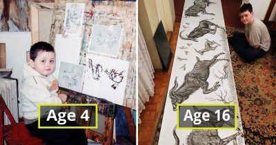 Kid Wanted To Be An Artist Since He Was 2, Here're His Gobsmacking Arts By Age 16