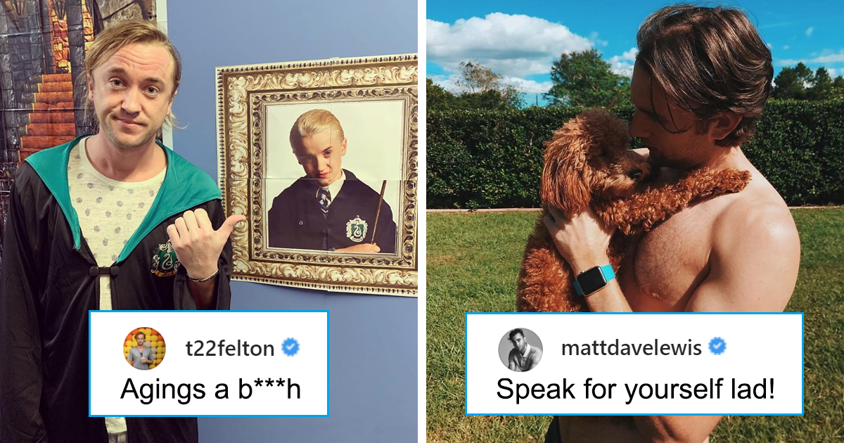 'Harry Potter' Stars Tom Felton, 32, Says Aging Sucks, Gets Trolled By Matthew Lewis