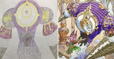 Dad Recreates Son's Doodles Into Amazing Anime Characters
